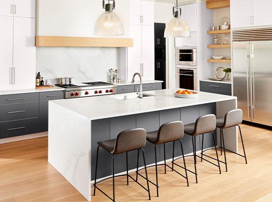 kitchen FENIX J0757 Bianco Dover J0724 Grigio Bromo