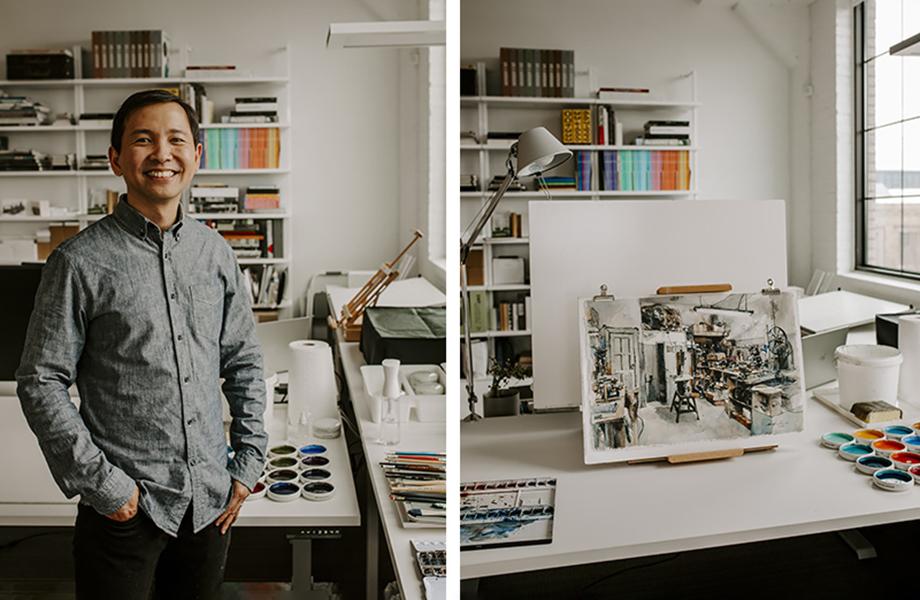 Kar-Keat Chong in his new studio featuring FENIX innovative materials