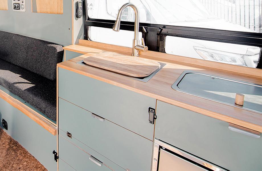 Texino campervan FENIX cabinetry
