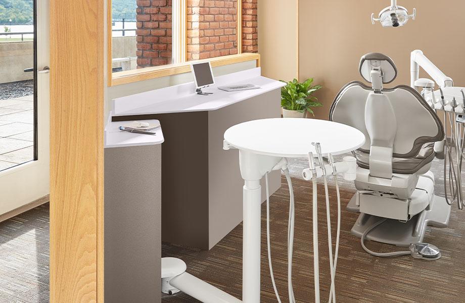 cabinet de dentiste FENIX J0030 Bianco Alaska J2629 Bronzo Doha